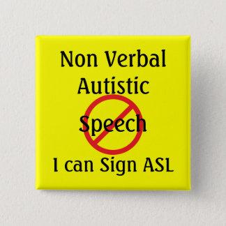 Badge Autiste non verbal vigilant médical d'outils