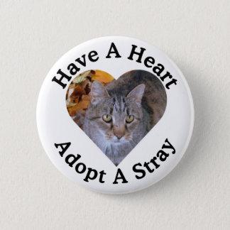 Badge Ayez un coeur, adoptez un bouton égaré