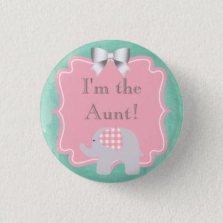 Badge Baby shower je suis la tante, soeur, papa, frère