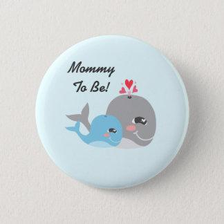 Badge Baby shower mignon de garçon de baleine