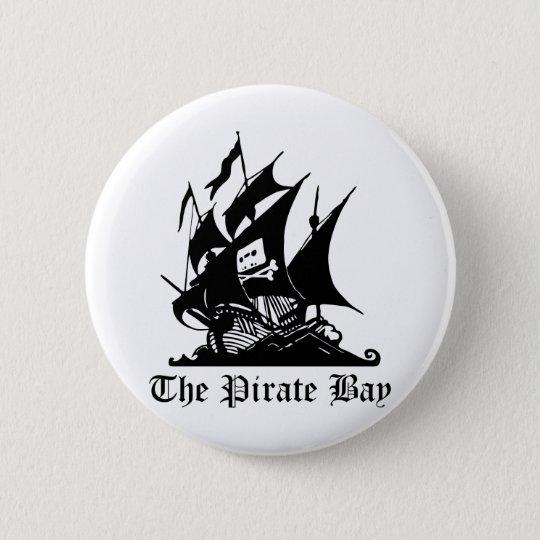 Badge Baie de pirate, piraterie illégale d'Internet de