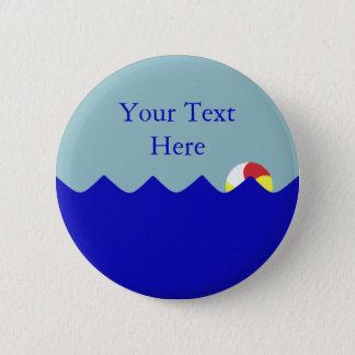 Badge Ballon de plage de piscine (personnalisable)