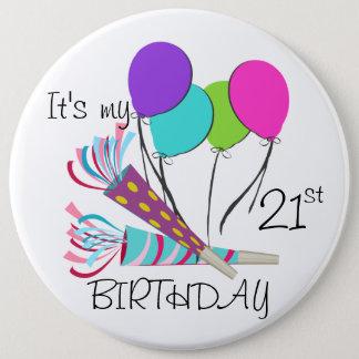 Badge Ballons d'anniversaire et klaxons de partie