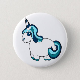 Badge Bande dessinée blanche de licorne