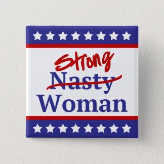 Badge Bannière étoilée méchante forte de femme