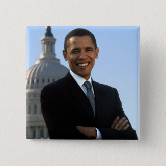Badge Barack Obama - Pin carré