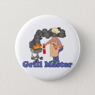 Badge Barbecue drôle de maître de gril