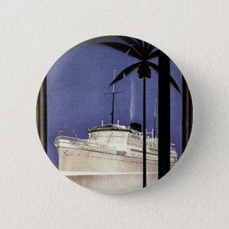 Badge Bateau de croisière et palmiers tropicaux de