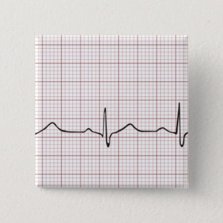 Badge Battement de coeur d'ECG sur le papier de