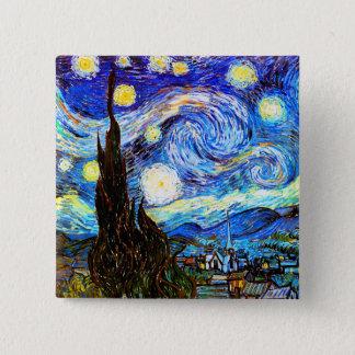 Badge Beaux-arts de nuit étoilée de Van Gogh