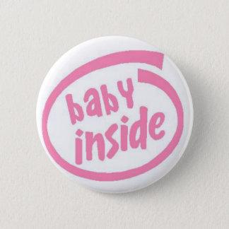 Badge Bébé à l'intérieur de bouton - rose