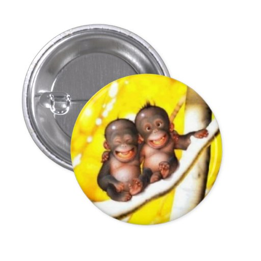 badge bébés orang-outan rigolo
