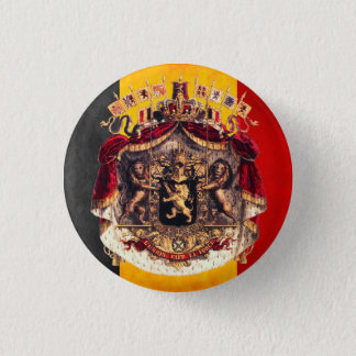 Badge Belgian flag with coat ou le bras