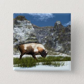 Badge Bison dans la montagne