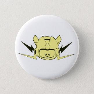 Badge Blanc de bouton de robot de Rocket