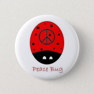 Badge blanc de bouton d'insecte de paix
