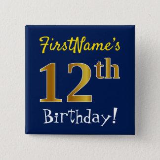 Badge Bleu, anniversaire d'or de Faux 12ème, avec le nom