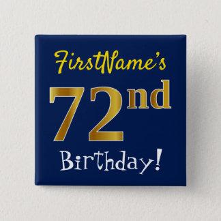 Badge Bleu, anniversaire d'or de Faux soixante-douzième,