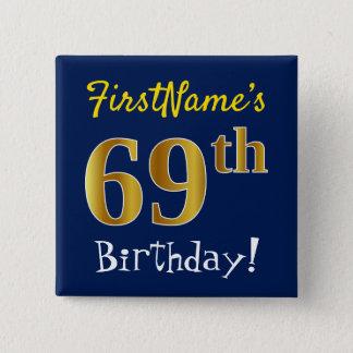 Badge Bleu, anniversaire d'or de Faux soixante-neuvième,