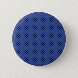 Badge Bleu Cerulean et petit motif de pois noir