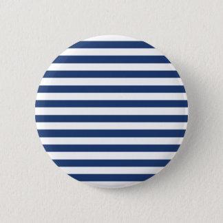 Badge Bleu de cobalt et motif blanc horizontal de