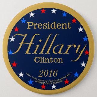 Badge Bleu de minuit du Président Hillary Clinton 2016