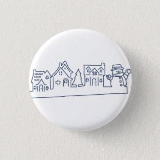 Badge Bonhomme de neige au bouton saint de nuit
