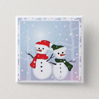 Badge Bonhomme de neige du pays des merveilles d'hiver