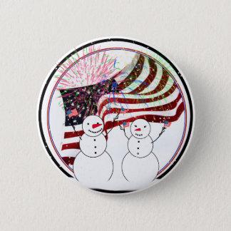 Badge Bonhommes de neige célébrant l'indépendance
