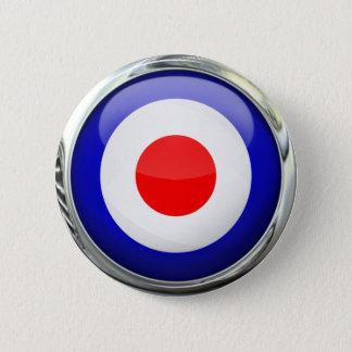 Badge Boule en verre de cible de mod