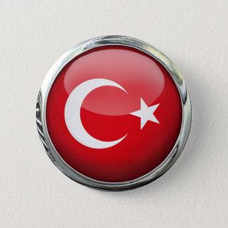 Badge Boule en verre de drapeau de la Turquie