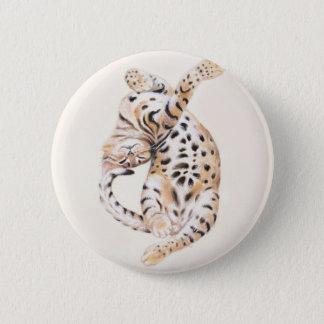 Badge Bout droit mignon de chaton du Bengale