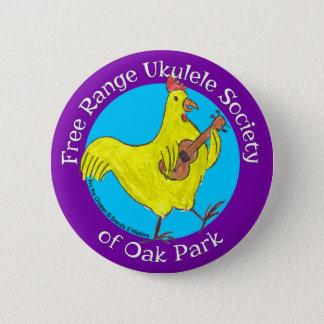 """Badge Bouton 2,5"""" société libre d'ukulélé de gamme d'Oak"""