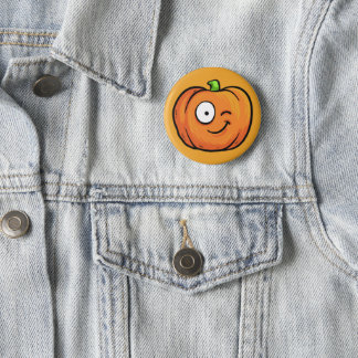 Badge Bouton 4 de citrouilles de Halloween