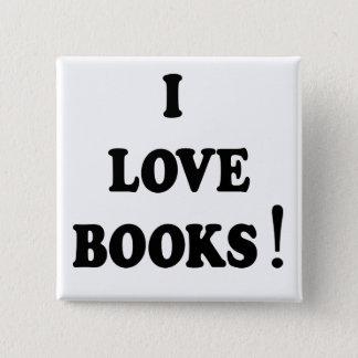 """Badge Bouton aime livres de livres noirs """"je"""""""