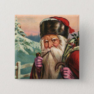 Badge Bouton alpin de Père Noël