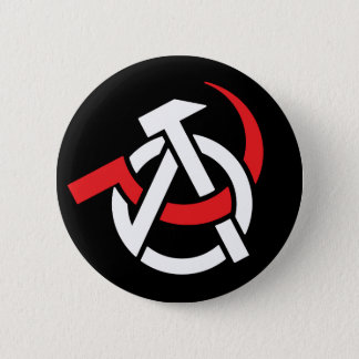 Badge Bouton Anarcho-Communiste de symbole