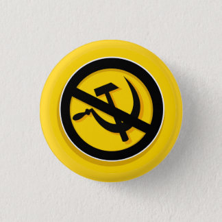 Badge Bouton : Anti+ marteau et faucille