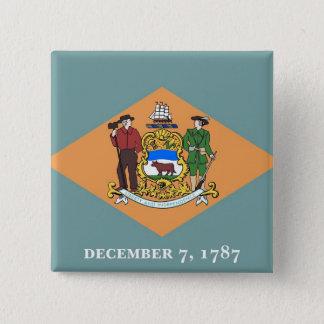 Badge Bouton avec le drapeau du Delaware