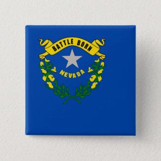 Badge Bouton avec le drapeau du Nevada