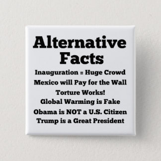 "Badge Bouton blanc ""de faits alternatifs"""