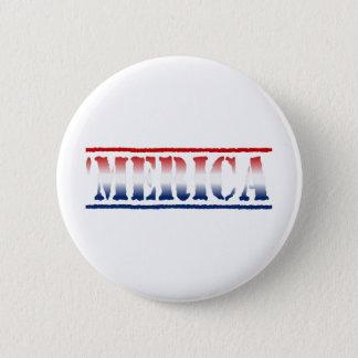 Badge 'Bouton blanc de MERICA et bleu rouge