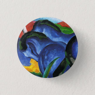 Badge Bouton bleu de chevaux de Franz Marc