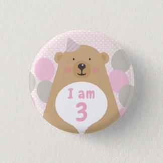 Badge Bouton câlin mignon d'insigne d'âge d'anniversaire