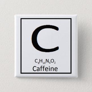 Badge Bouton carré de caféine, 2 po