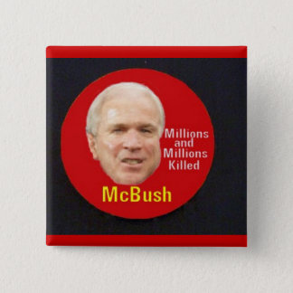 Badge Bouton carré de McBush