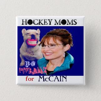 Badge Bouton carré de Palin/Pitbull