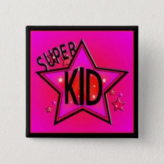 Badge Bouton carré de rose superbe d'enfant d'étoile