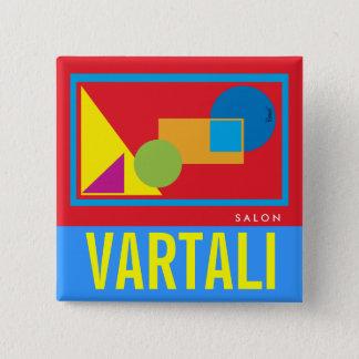 Badge Bouton carré de Vartali de formes géométriques