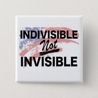 Badge Bouton carré non invisible indivisible